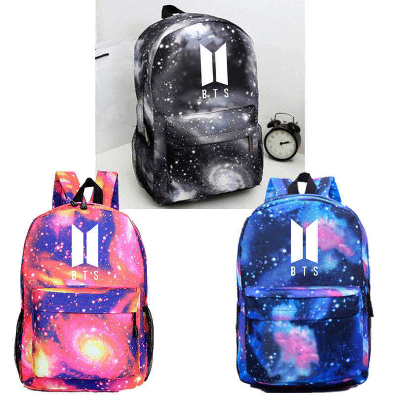 KPOP BTS Backpack JIMIN Bangtan Boys Bag Unisex Rucksack Shoulder Schoolbag 3 Colors N7090618