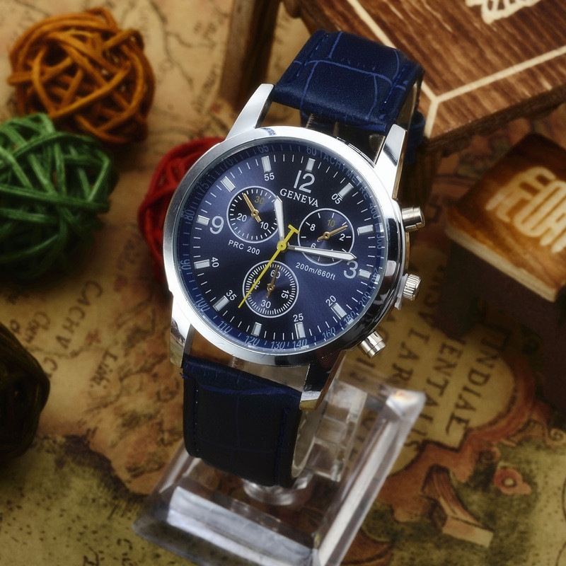 Mens Watches Top Brand Luxury Leather Sports Watch Men Fashion Chronograph Quartz Male Waterproof Watch Relogio Masculino in Women 39 s Watches from Watches
