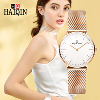 HAIQIN Women's Watches Top Brand Luxury Gold Quartz Ladies Watches Sports Clock Couple Watches Zegarek Damski Horloges Vrouwen