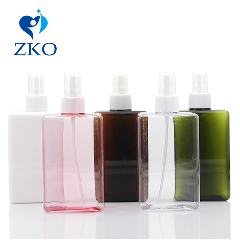 1 Pcs Free Shipping 300ml Square PETG Bottle, Professional Goods Use Plastic Spray Bottle Refillable Bottle