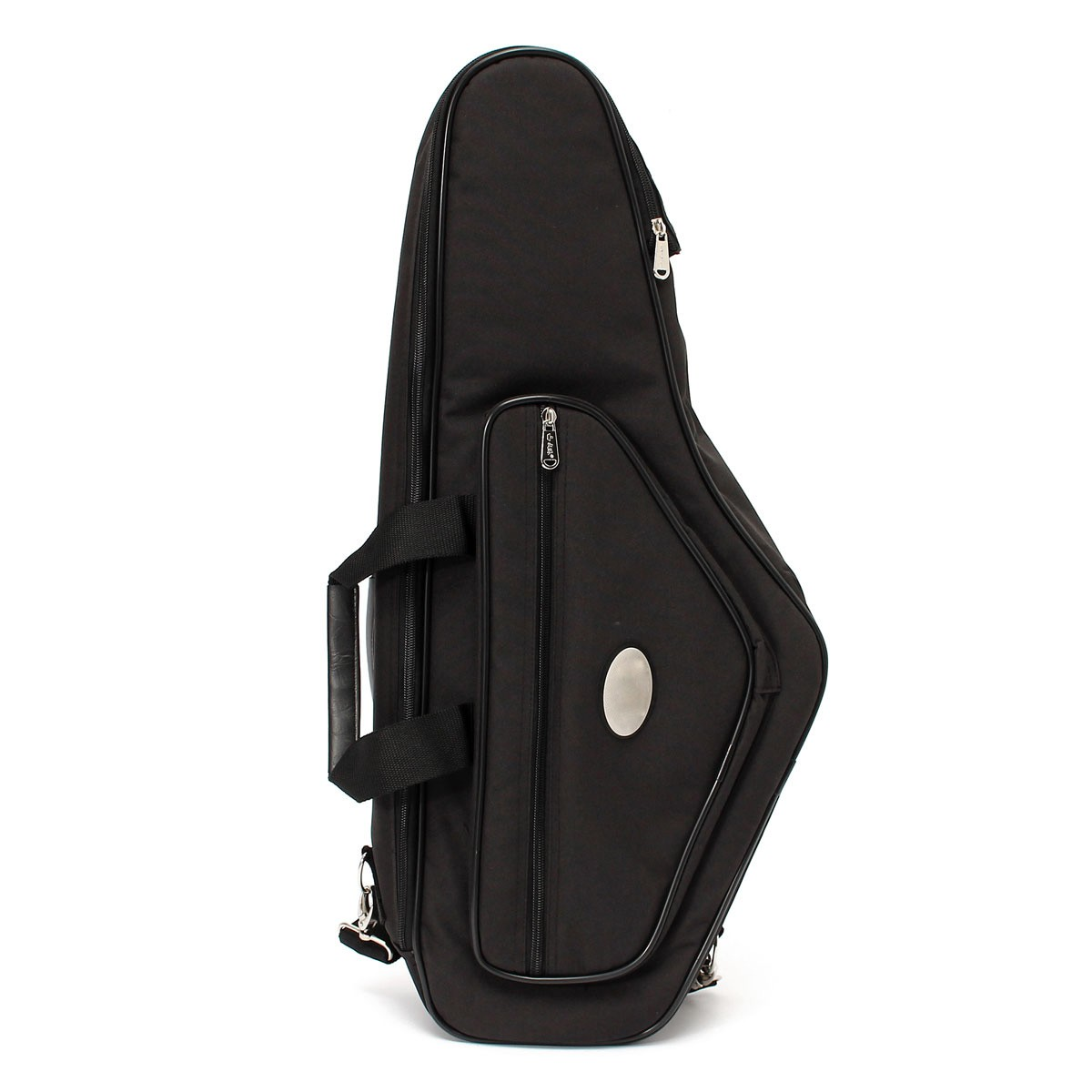 2016 Oxford Black Alto Saxophone Bag Case Double Carry Handles And Two Adjustable Shoulder Straps With Exterior For Pocket аксессуар jawbone big jambox carry case j2011 03 case rp black