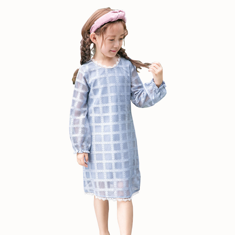 Lace Girl Dress Princess Kids Clothes Toddler Girls Clothing Long Sleeve Brand 2018 New Wedding Party Autumn Spring 2017 autumn girls lace dress baby girl princess long sleeve big bow dress 2 8 y children clothes kids party clothing for girls