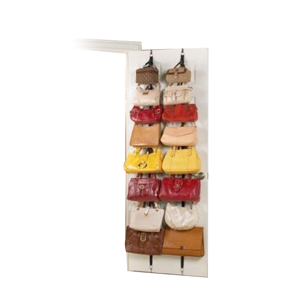 Attractive Hanging Cap Rack Holder Hat Clothes Organizer Over Door Straps With 16 Hook  A1 BS(