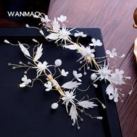 Bridal White Silk Flower Headdress Aesthetic Hair Ornaments Handmade Flowers Hairpin Side Clip Wedding Dress Accessories