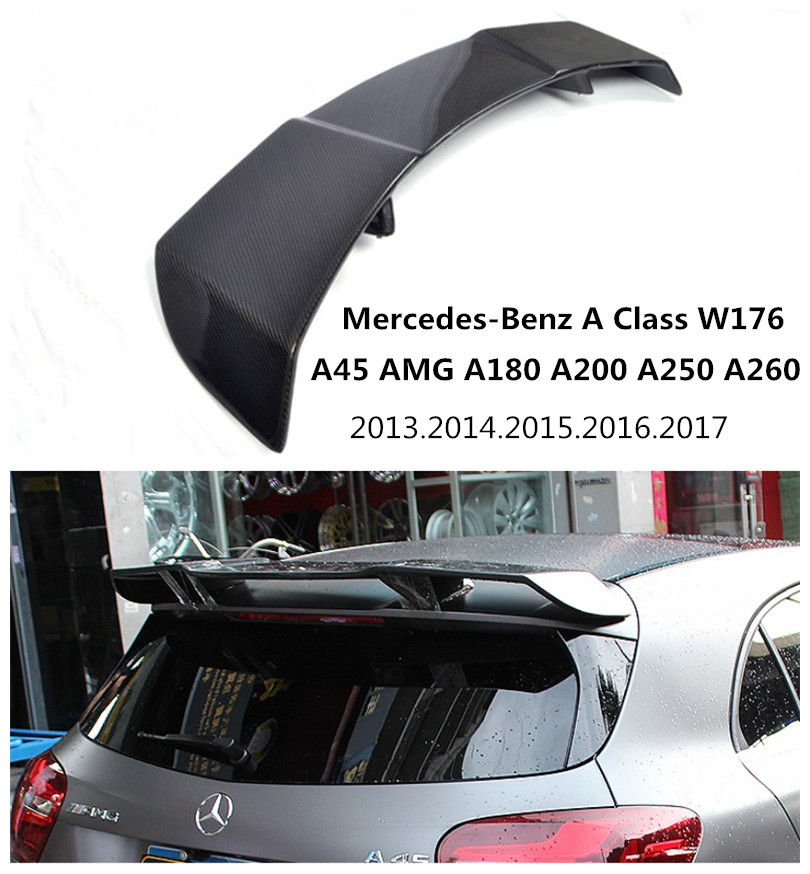 Auto In Fibra di Carbonio Spoiler Per Mercedes-Benz A Class W176 A45 AMG A180 A200 A250 A260 2013-2017 ala Spoilers Auto Accessori
