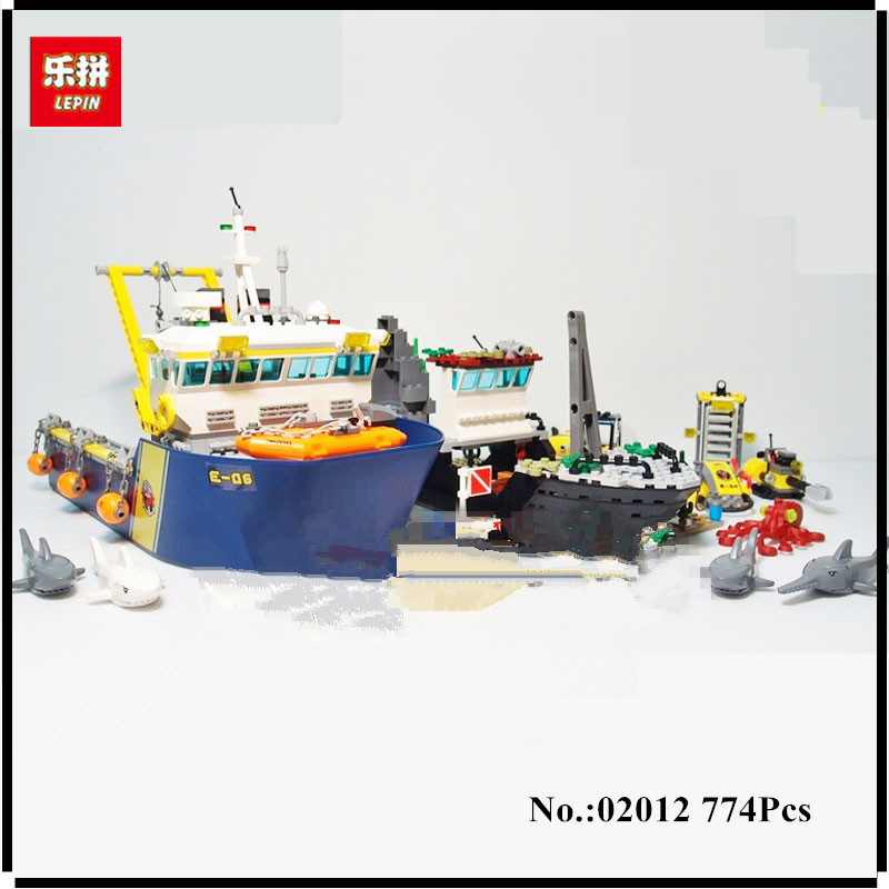 IN STOCK Lepin 02012 774Pcs City Series Deepwater Exploration Vessel Children Educational Building Blocks Bricks Toys Model Gift new lepin 16008 cinderella princess castle city model building block kid educational toys for children gift compatible 71040