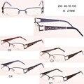 Venda quente oculos de grau femininos óculos miopia lentes mulheres silhueta óculos homens metade rim óculos frame ótico 3025