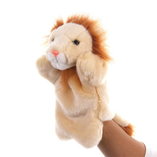 1 Pcs Animal Lion Hand Puppet Doll Toys Glove finger puppets Plush Toys For Hand Doll Marionetes Fantoche Puppets