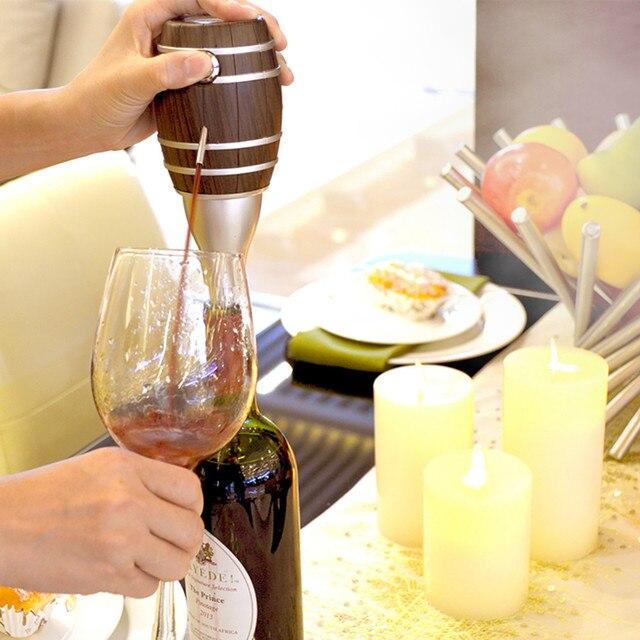 Top quality Barrel Shaped Wine Pourers Decanter Electric Cider Pump Aerator Pourer Design Wine Juice Bottle Drinks for parties 1