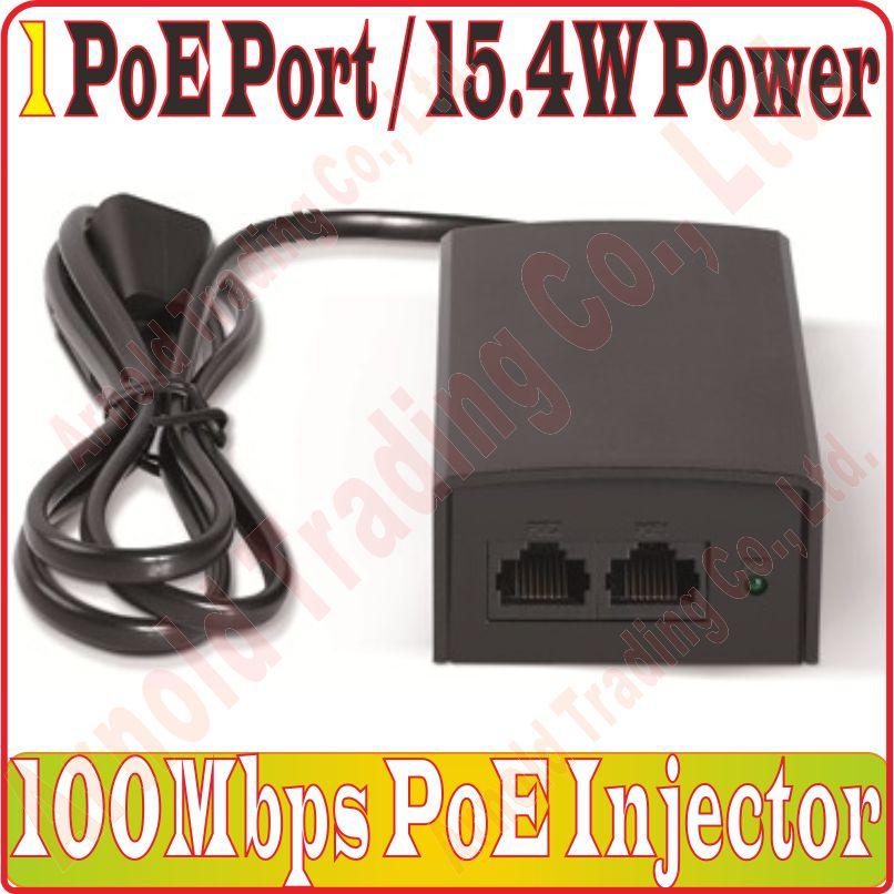 1 Poe Port 15,4 Watt 100 Mbps Poe Injektor 1 Ch Poe Schalter Mit Builtin Power Adapter & Dc48v Ausgang Unterstützung Ieee802.3af Ieee802.3u