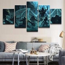 Home Decor Painting Wall Art Poster Printed Modern 5 Panel Game Diablo III Reaper Of Souls Canvas Living Room Modular Pictures