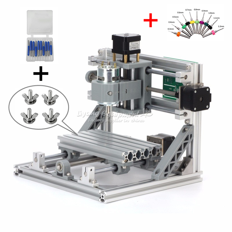 Disassembled pack Christmas gift DIY 1610 engraving machine Pcb Milling Wood Carving machine mini cnc router with GRBL control disassembled pack mini cnc 3018 pro 5500mw laser cnc engraving machine pcb milling machine wood carving machine