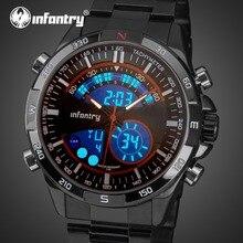 Мужские часы от ведущего бренда, роскошные аналоговые цифровые военные часы, мужские армейские спортивные часы с двойным временем, мужские часы