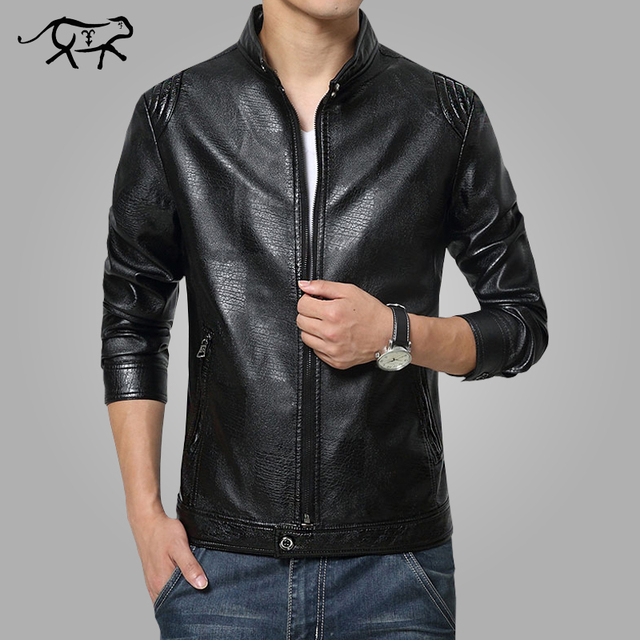 2017 New Arrival Leather Jackets Men's jacket male Outwear Mens Coats Slim fit Spring Autumn PU Jacket De Couro Plus Size M-3XL