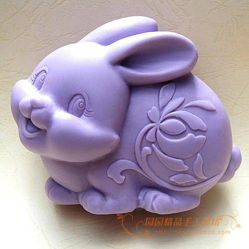 Rabbit Silicone Soap mold DIY Carft 3d soap molds S058Rabbit Silicone Soap mold DIY Carft 3d soap molds S058
