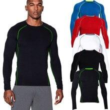 New Long Sleeve Tight Shirt Fall Winter Fitness Soccer Basketball Training Wear Quick Dry Men Tank Sleeve Sport T – Shirt