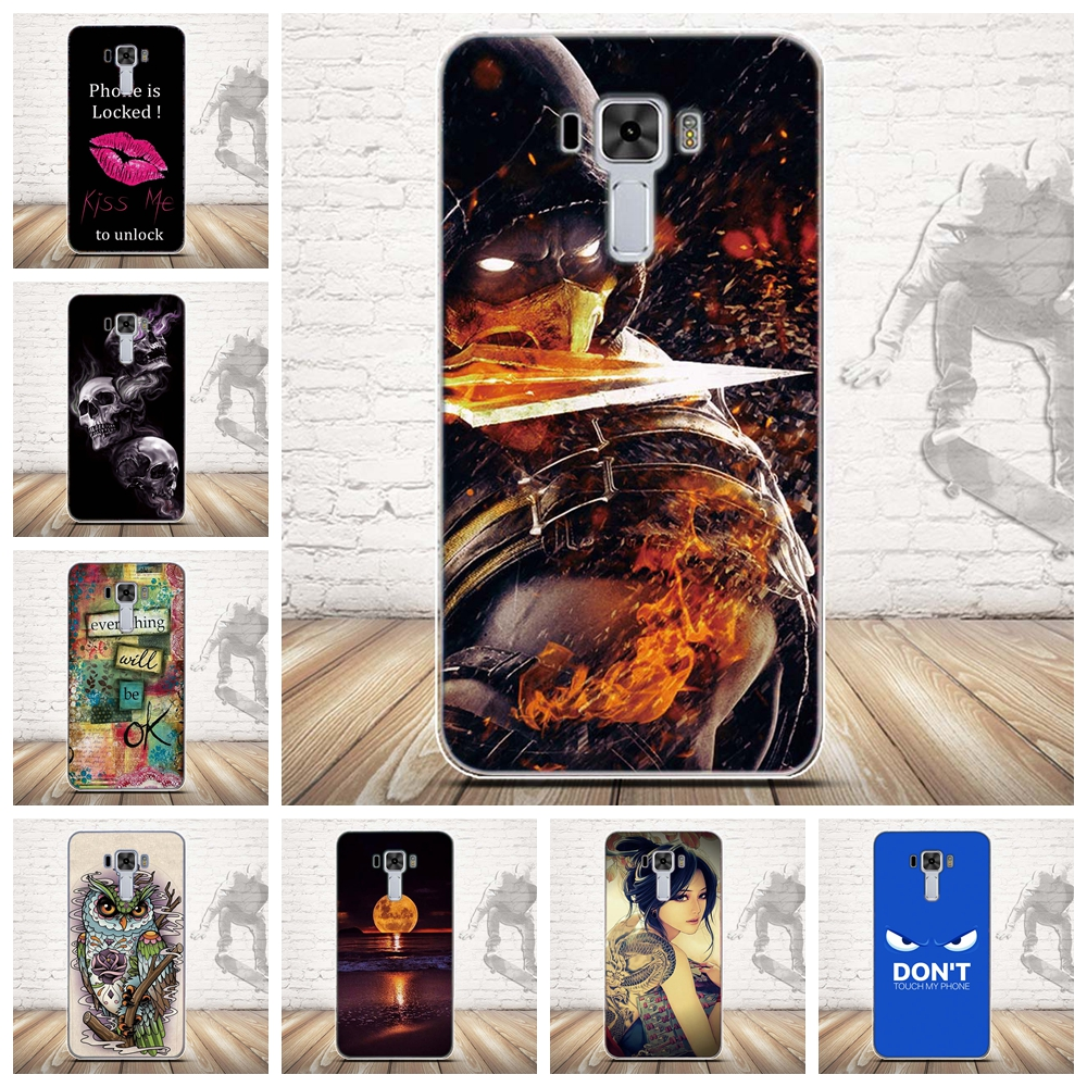 Case for Zc551kl-Cover Asus Zenfone Soft-Silicone Fundas Laser TPU