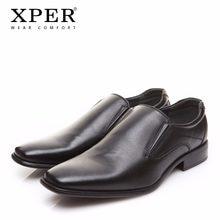 8ec811a13 2018 XPER брендовые Мужские модельные туфли модные Бизнес обувь носить  удобную человек официальная обувь без застежки свадебные .