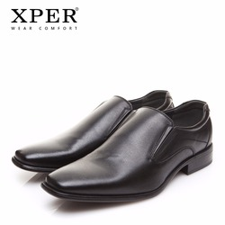 6147ec6bd14f 2018 XPER Brand Men Dress Shoes Fashion Business Shoes Wear Comfortable Man  Formal Shoes Slip-On Wedding Shoes Black  XYWD8692BL