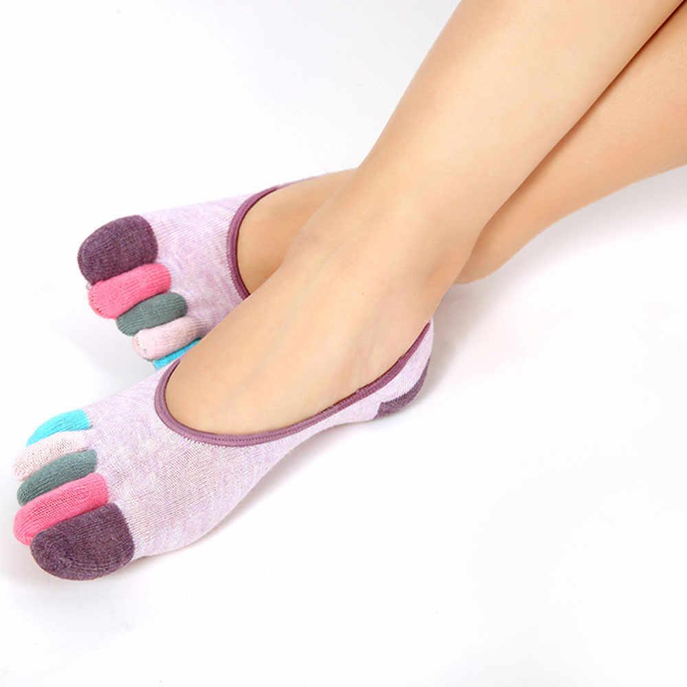 女性の 5 本指ボートソックス新しい不可視非スリップ靴下爆発モデル参照しファッションカジュアル女性の靴下 Calcetines
