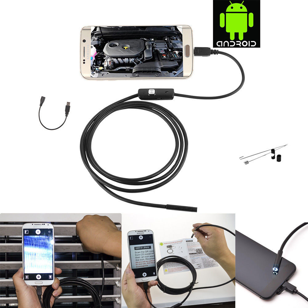 5.5mm Lens Mirco USB Android  Endoscope Camera 1M Waterproof IP67 Snake Tube Pipe Android USB Borescope 720P Camera5.5mm Lens Mirco USB Android  Endoscope Camera 1M Waterproof IP67 Snake Tube Pipe Android USB Borescope 720P Camera