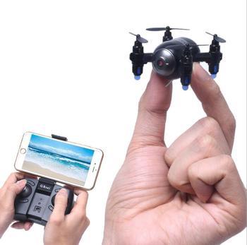 Wi-fi FPV Rc Mini Quadcopter Drones com Altitude Hold 0.3MP HD Câmera Zangão UFO Anti Esmagar Pocket Selfie Elfie 360 rolo VS X909H