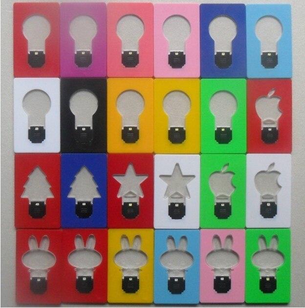 Promotion price !  Mini LED Credit Card Light Cerative Card lamp Pocket LED Light Novelty Lighting  APPLE  led light