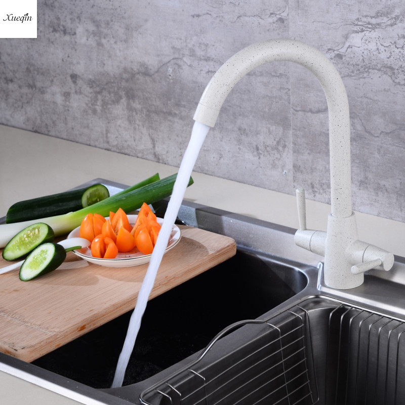 Twin Level Kitchen Hot Cold Water Sink Mixer Tap Bathroom ...