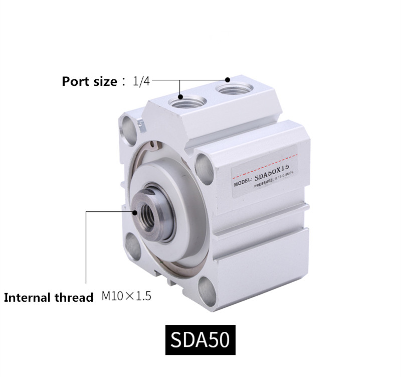 Free shipping Thin cylinder AirTAC type SDA50 series 5mm to 100mm stroke aluminum alloy air cylinder Pneumatic components acq100 75 b type airtac type aluminum alloy thin cylinder all new acq100 75 b series 100mm bore 75mm stroke