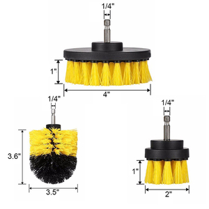 Image 4 - 3pcs/set Drill Power Scrub Clean Brush For Leather Plastic Wooden Furniture Car Interiors Cleaning Power Scrub 2/3.5/4 inch