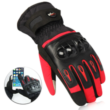 Retro Pursuit Perforated Real Leather Motorcycle Gloves Moto Waterproof Gloves Motorcycle Protective Gears Motocross Glove gift