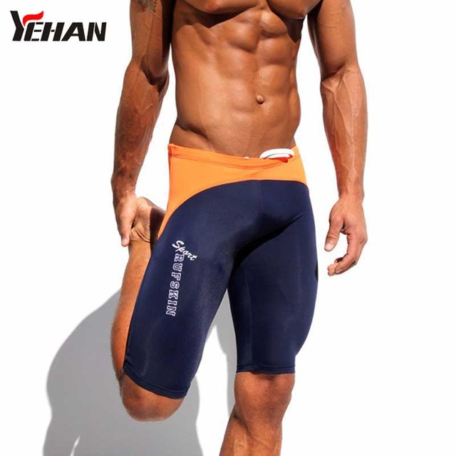 976ccd7348d Compression Shorts Men Spandex Tights Patchwork Low waist Sexy Shorts  Elastic Fitness Running Shorts Bermuda Masculina