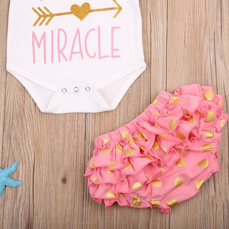 Emmababy Summer Newborn 3PCS Set Clothes InfantCute Baby Girls Short Sleeve Romper Bodysuit+Lace Ruffled Shorts+Headband Set Hot