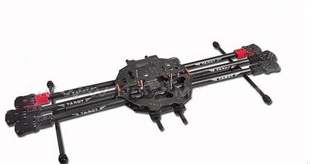 F07803 tarot tl68c01 fy690s 3 k fibra de carbono de seis eixos dobrar aviões de rc hexacopter kit quadro distância entre eixos 690mm para diy fpv zangão