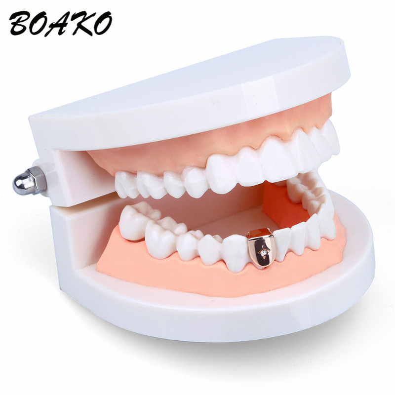 Classic Hip Hop Punk Teeth Grillz With Crystal CZ Gold Silver Top Bottom Grills Dental Mouth Caps Men Women Body Jewelry Gifts in Body Jewelry from Jewelry Accessories