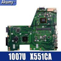 Amazoon X551CA Laptop motherboard for ASUS X551CA X551CAP X551C X551 F551C F551CA Test original mainboard 1007U 1xSlot