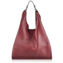 100% Genuine leather-based ladies bag informal HOBO shoulder baggage delicate massive bucket purchasing baggage occident Top-handle baggage
