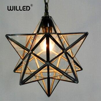 Loft Vintage Pendant Light Lamp Shooting Star Tiffany Glass for Aisle Corridor Porch Shop Decoration luminaire Hanglamp цена 2017