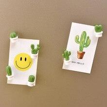 6pcs Cactus magnetic stickers  Fridge Magnets Succulent Plant Magnet Button Refrigerator Message Sticker home decoration
