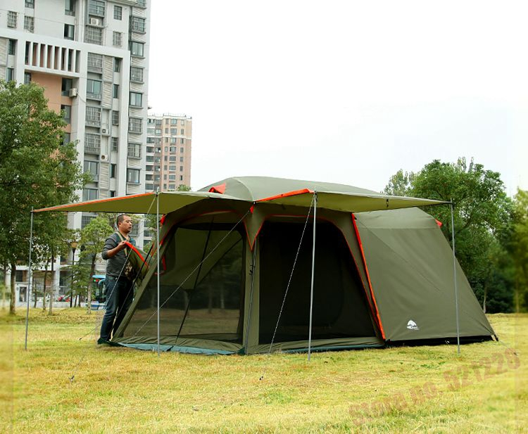 726f58a11fb August Luxury 1 Bedroom 1 Living Room 5 6 8 Person UV Waterproof Hiking  Driving Travel Beach Party Family Outdoor Camping Tent