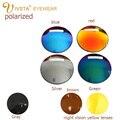 IVSTA azul lentes de visão noturna Polarizada Óculos de sol Espelho Miopia lentes ópticas grau grau Prescrição míope