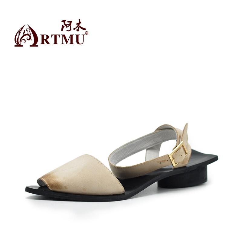 Cuir Zapatos Robe Chaussures Sandalias Bout La Artmu Boucle Sandales À Mujer Femmes Pointu Mode En Femme Beige Diapositives noir Lady Main qTx7S1Z