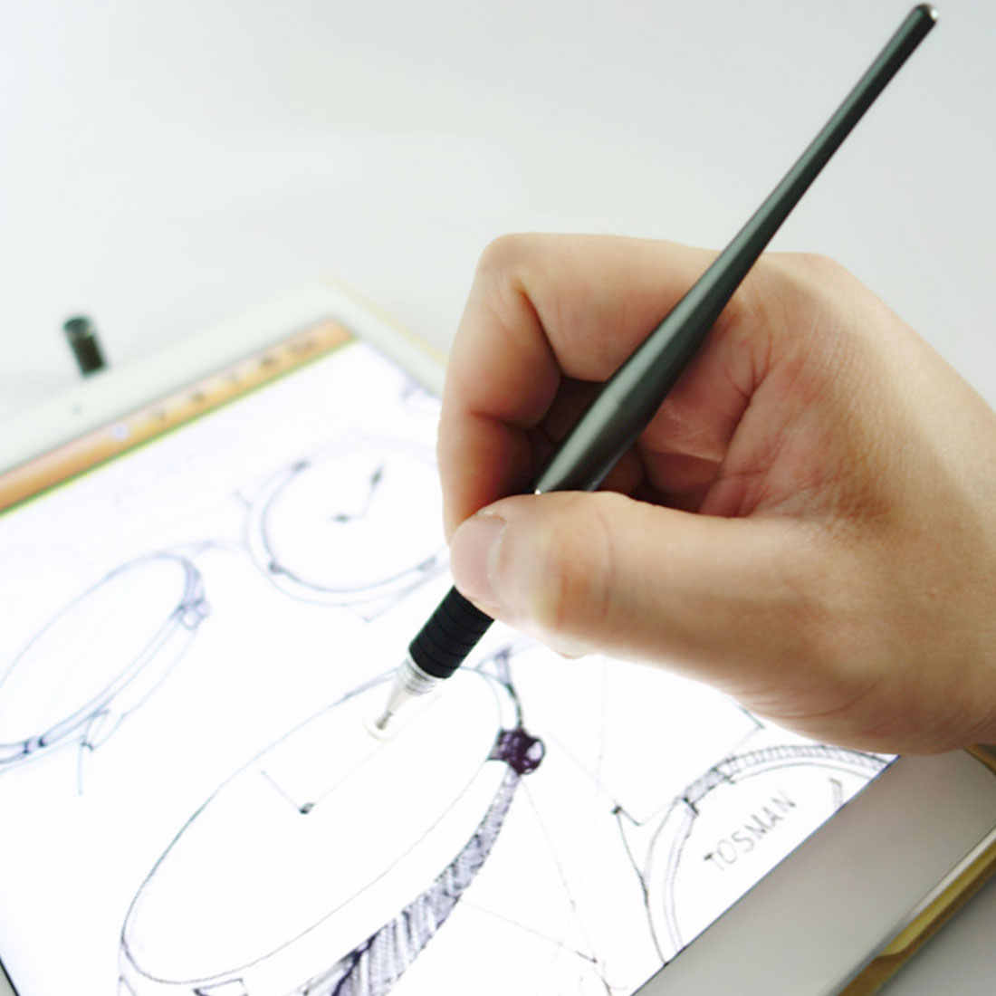 NEW Hot 2 in 1 Capacitive Stylus Pen NEW Metal Drawing Pen Touch Screen Stylus Pen For Smart Phone Tablet PC for iPhone iPad