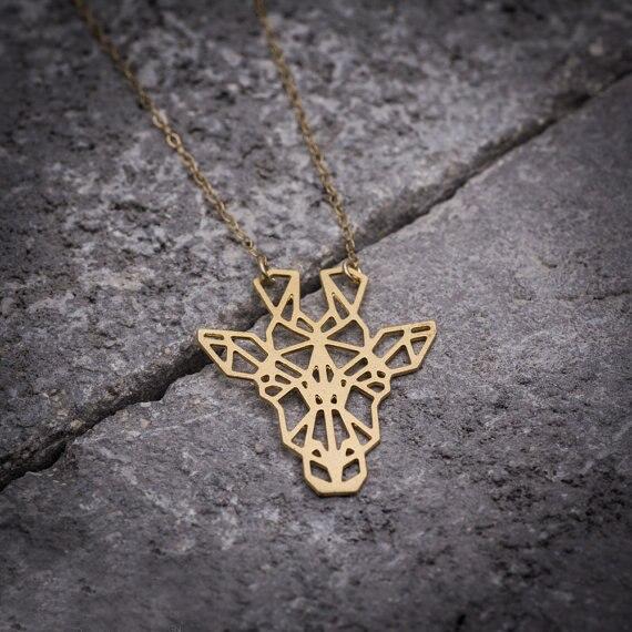 Big Heart Giraffe Necklace