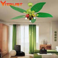 Moderne enfants ventilateur de plafond pour les enfants Chambre ventilateur plafonnier de fer ventilateur de plafond avec des Lumières