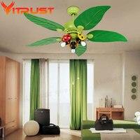Modern kids ceiling fans for kids Bedroom ceiling fan light iron Ceiling fans with Lights