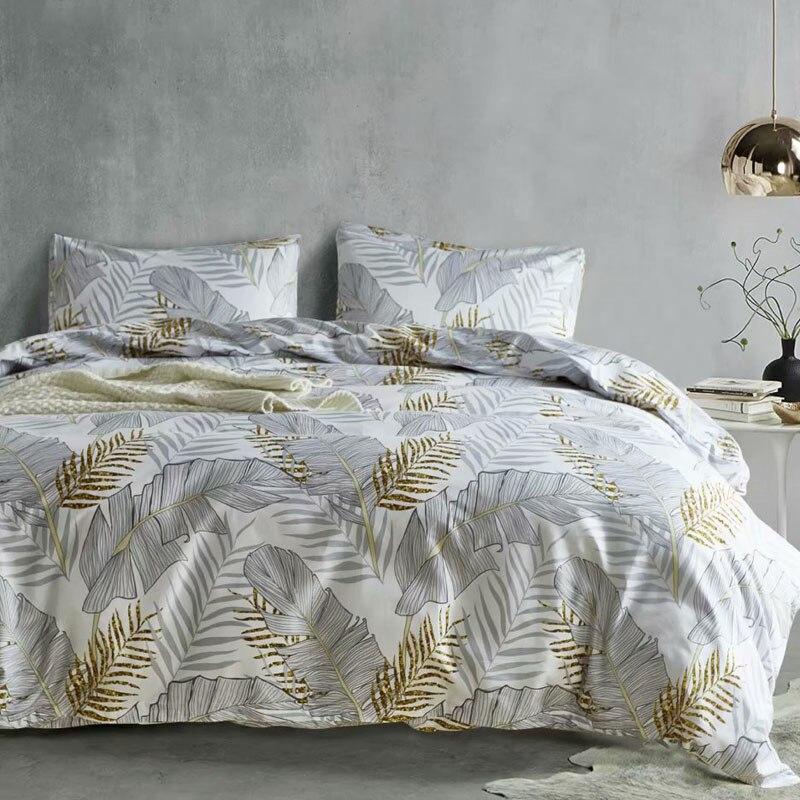 Luxury Bedding Set Russia Euro Queen Double King Size Duvet Cover Set 2/6PCS Family Bed Linen Set Leaf No Filler Home Textile