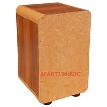 Afanti Music Maple Mahogany Natural Cajon Drum KHG 189