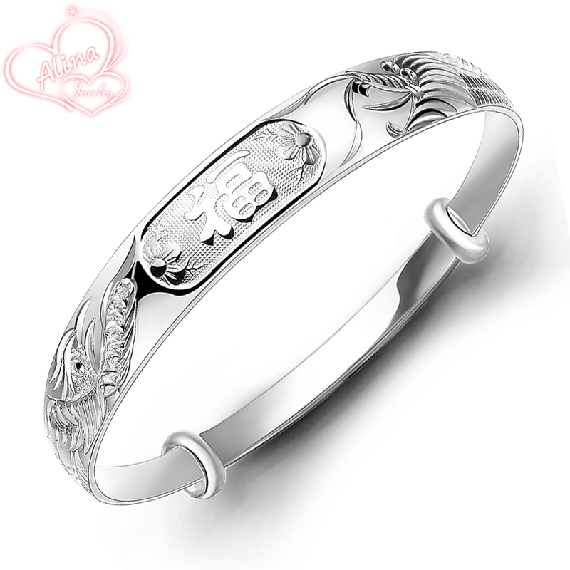 2015 new sterling silver jewelry bangle s999 fine silver for Fine silver 999 jewelry