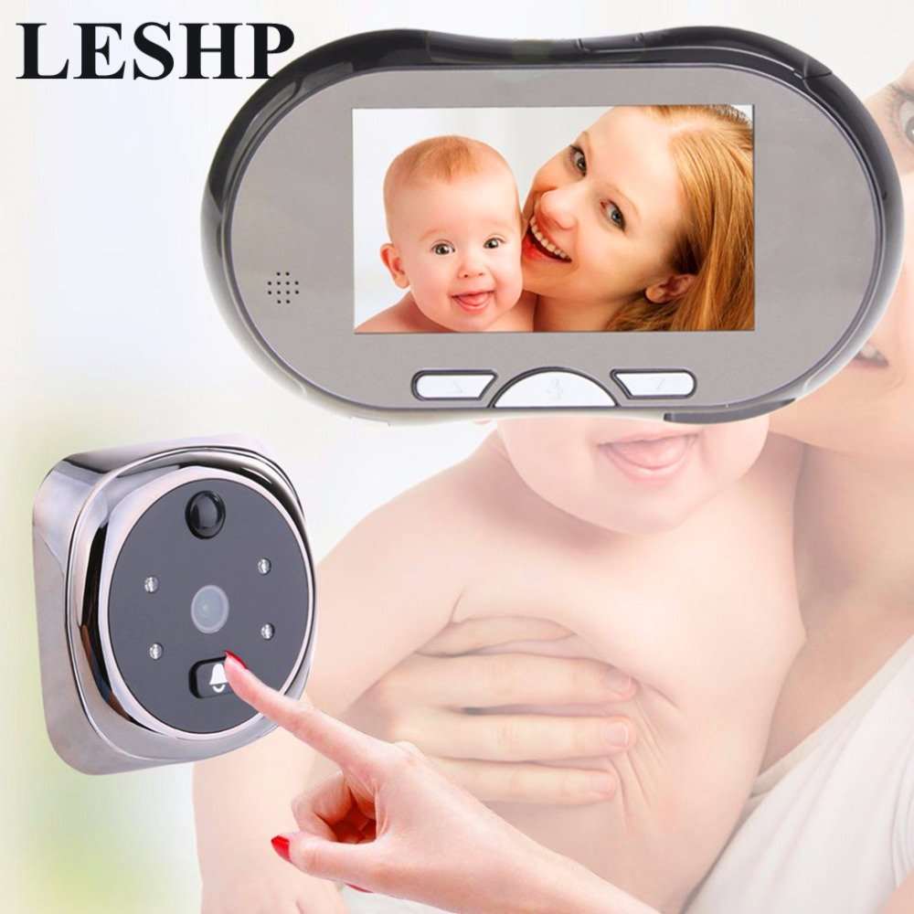 4.3 Touch Screen Digital Doorbell 160 Degree HD Wide Angle Peephole Viewer Door Eye Doorbell Night Vision Zinc Alloy Magic eye 3 0inch digital lcd peephole viewer eye doorbell color hd digital screen eye video record camera 145 degree night vision motion